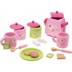 Teeservice, rosa