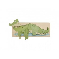 Zahlenpuzzle - Krokodil