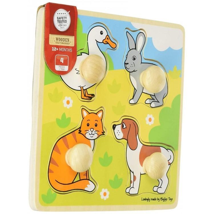 Knopfpuzzle - Haustiere