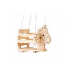 Kinderschaukel aus Holz Pferd