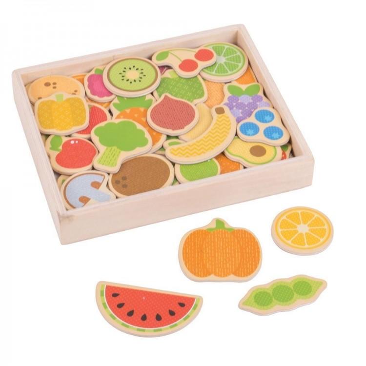 Früchte und Gemüse Magnete - Bigjigs Toys