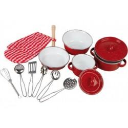 Kochgeschirr für KInder, rot - 13 Teile