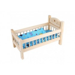 Puppenbett aus Holz
