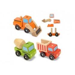 Baustellenfahrzeuge aus Holz