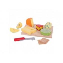 Käseplatte-Set aus Holz