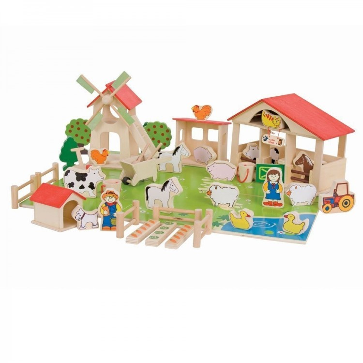 Bauernhof aus Holz - Spielbauernhof