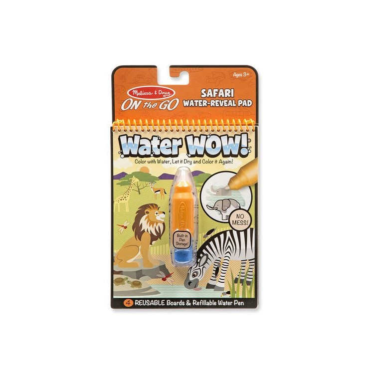 Wasserstift - Malbuch - Water Wow Safari