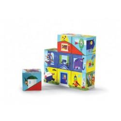 Würfel Puzzle Haus bauen
