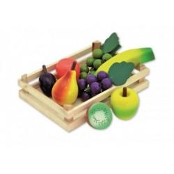 Kaufladen Zubehör - Obst in Holzsteige