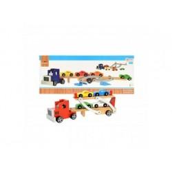 Spielzeug - Autotransporter aus Holz für Kinder