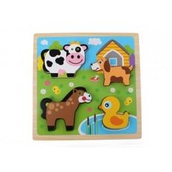 3D Puzzle aus Holz - Bauernhof