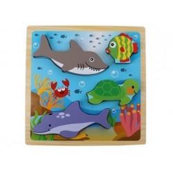 3D Puzzle aus Holz - Ozean