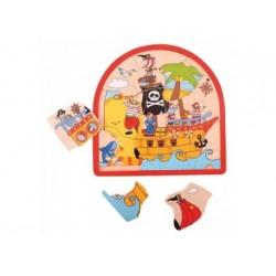 Schichtenpuzzle - Piraten