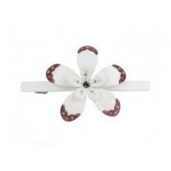 Haarspange - Blume Weiss