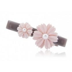 Haarspange - Blume mit Perle