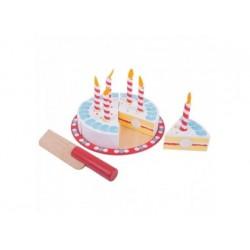Geburtstagstorte aus Holz