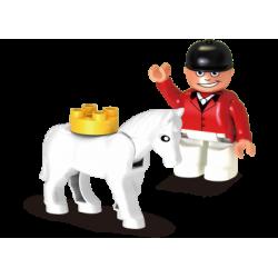 Reiter mit Pony
