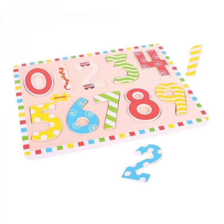 Einlegepuzzle - Zahlen