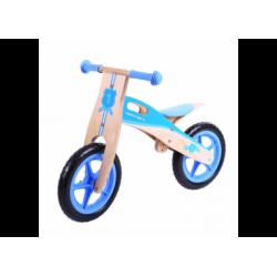 Laufrad aus Holz blau