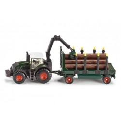 Siku 1861 Traktor mit Holzanhänger