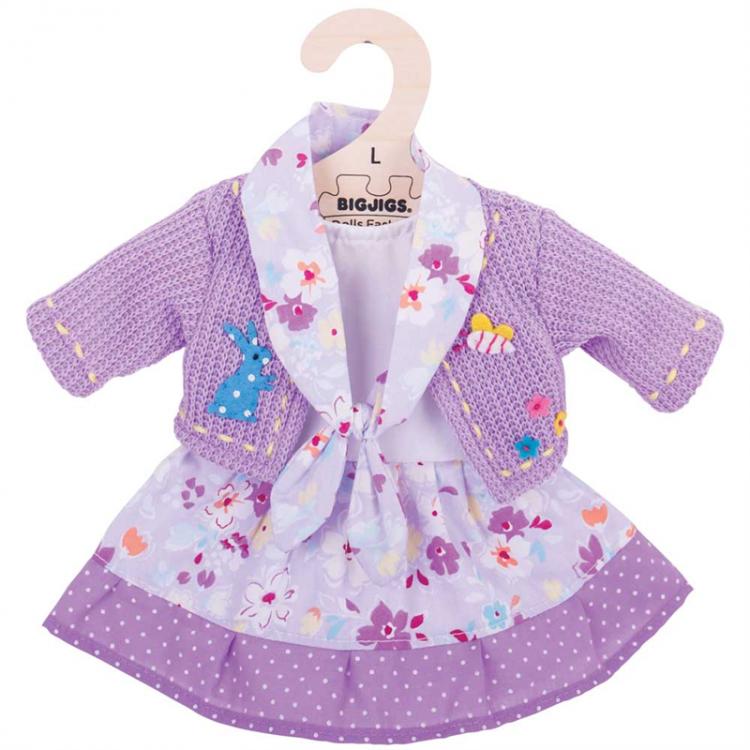 Puppenkleidung - Strickjacke und Kleid