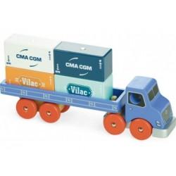 Container Lastwagen aus Holz, Vilac