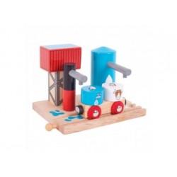 Holzeisenbahn Zubehör - Milch Und Wasser Silo
