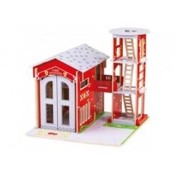 Feuerwehrstation - Feuerwache aus Holz