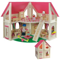 Puppenhaus klappbar aus Holz