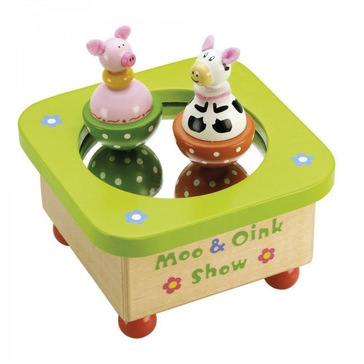Musikdose - Spieluhr Kuh und Ferkel