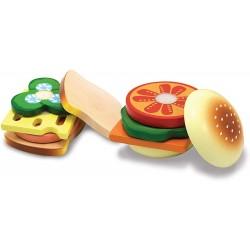 Sandwich-Set aus Holz (17 Teile)