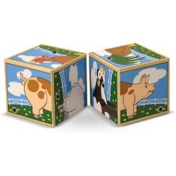 Würfelpuzzle - Geräuschwürfel Bauernhof