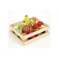 Kiste mit Obst, Spielwaren