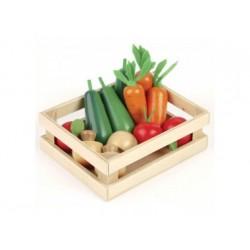 Kiste mit Gemüse - Holz