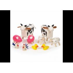 Bauernhoftiere aus Holz