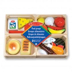 Lebensmittel-Set aus Holz