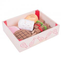 Spielküche Zubehör Fleisch und Wurst Kiste