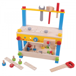 Werkbahk für Kinder Holz