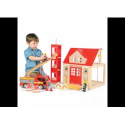Spielgarage - Feuerwehrstation mit Auto