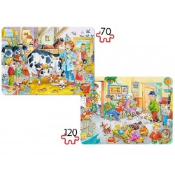 Puzzle, Tierarzt, 2er-Set