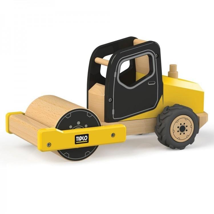 Spielwalze - Road Roller Baustelle Holz