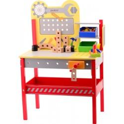 Kinderwerkbank mit Werkzeug aus Holz