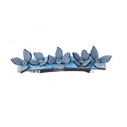 Haarspange - Blau Blumen