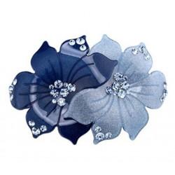Haarspange - Camelia Blau