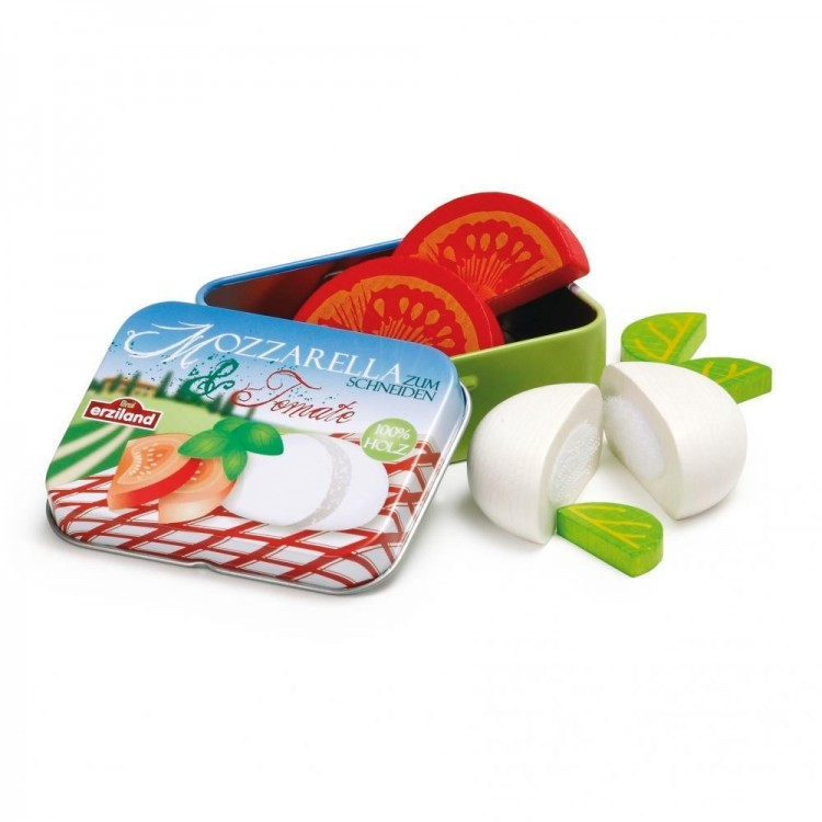 Mozzarella und Tomate in der Dose