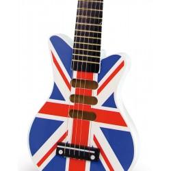 Rock Gitarre Union Jack aus Holz