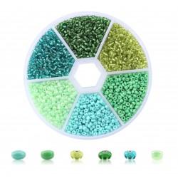 Rocailles-Perlen-Set Grün