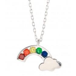 Kinder - Halskette mit Anhänger Regenbogen