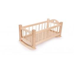 Puppenwiege aus Holz inkl. 11-teilige Spielset
