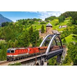 Train on the Bridge  -  Puzzle 500 Teile